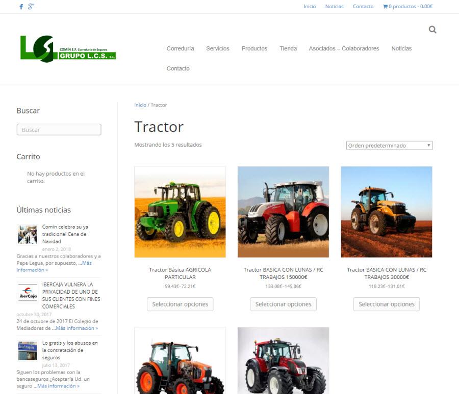 Comin SL tractor