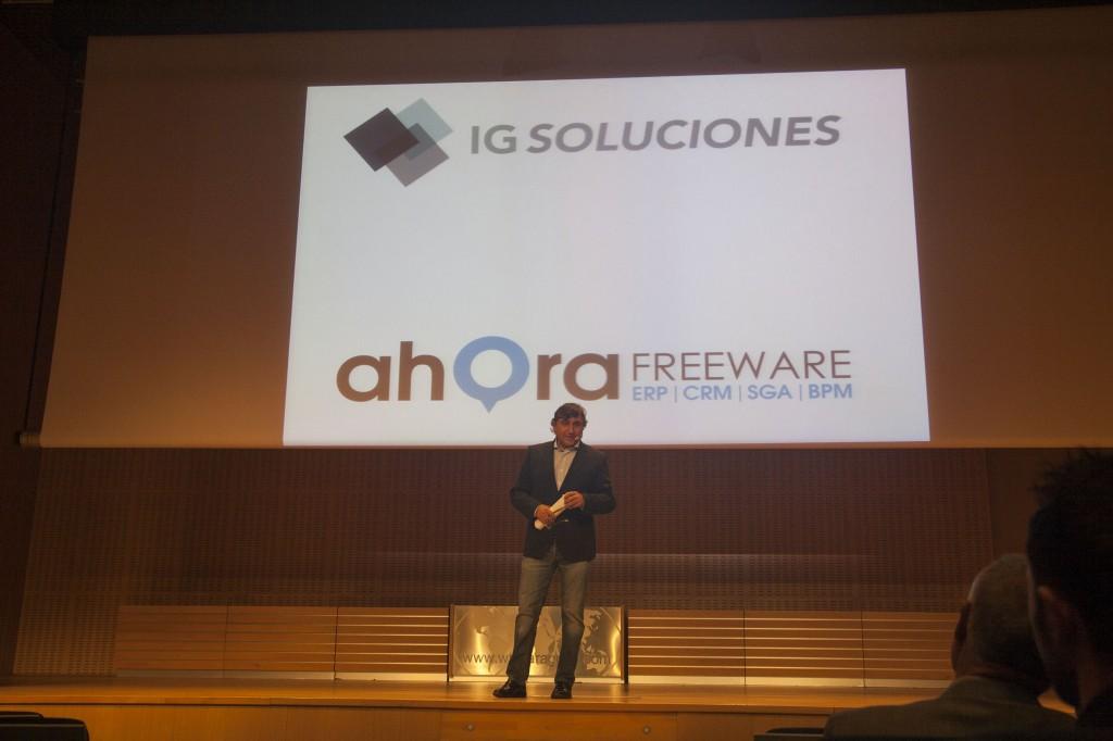 Javier Segarra presentando el evento de productividad
