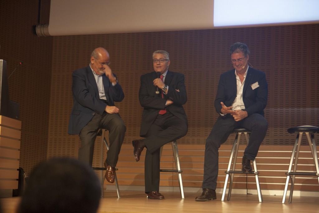 Javier, Juan e Ignacio contestaron preguntas de los asistentes
