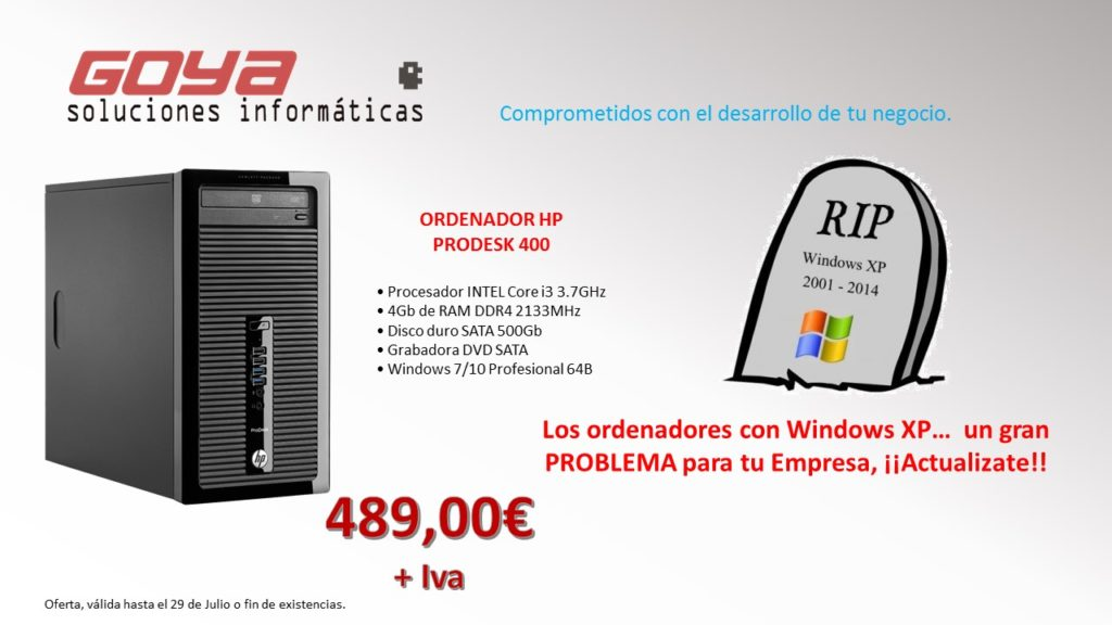 OfertaProdesk400 WINDOWS XP
