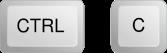 Botón Ctrl + C