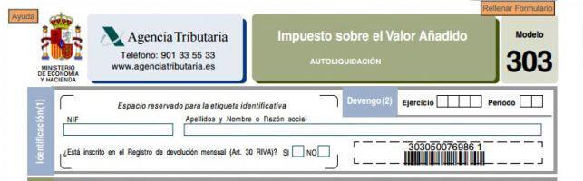 Modelo presentar IVA