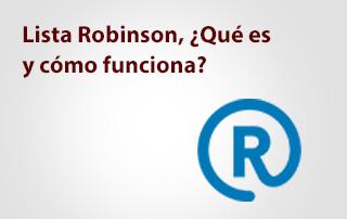 Qué es la lista Robinson